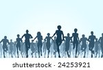 illustration of a large group... | Shutterstock . vector #24253921
