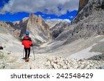 via ferrata climber surrounded... | Shutterstock . vector #242548429