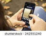 modern social photography... | Shutterstock . vector #242551240