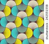 multicolored  seamless art deco ... | Shutterstock .eps vector #242551558
