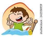 illustration is a child waking... | Shutterstock .eps vector #242558959