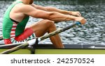 Athlete Rower At The Start....