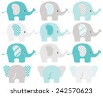 Stock vector elephants 242570623
