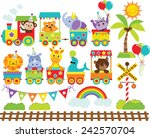 Stock vector zoo train 242570704