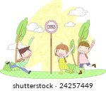starting school | Shutterstock .eps vector #24257449
