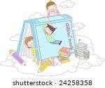 starting school | Shutterstock .eps vector #24258358