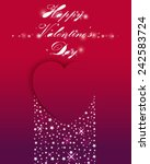 valentine's day card with heart ... | Shutterstock .eps vector #242583724