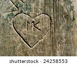Grunge Graffiti Heart Carved...