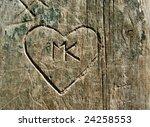 Grunge Graffiti Heart Carved...