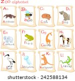 alphabet with animals | Shutterstock .eps vector #242588134