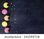 Macaroons Background  Colorful...