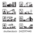 different industries with logos ... | Shutterstock .eps vector #242597440