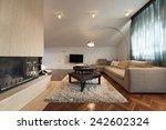 interior of the loft apartment  ... | Shutterstock . vector #242602324
