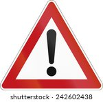 german warning sign for general ... | Shutterstock . vector #242602438