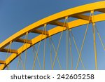 Yellow Steel Cable Stayed...