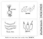 food menu illustrations   set... | Shutterstock .eps vector #242619820