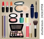 set of cosmetics and make up... | Shutterstock .eps vector #242619958