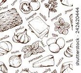 lasagna food background ... | Shutterstock .eps vector #242620444