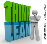 think lean in 3d letters next... | Shutterstock . vector #242620960