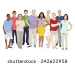 group of people illustrations... | Shutterstock .eps vector #242622958