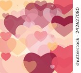 valentine's day background with ...   Shutterstock .eps vector #242627080