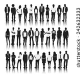 silhouette group of people... | Shutterstock .eps vector #242632333