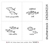 seafood menu illustrations  ... | Shutterstock .eps vector #242634214