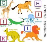 animal alphabet  part 2 of 4 | Shutterstock .eps vector #24263764