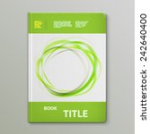 abstract green rings book... | Shutterstock .eps vector #242640400