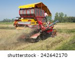 red harvester in work  thailand. | Shutterstock . vector #242642170