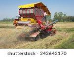 red harvester in work  thailand.   Shutterstock . vector #242642170