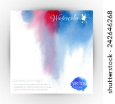beautiful watercolor card with... | Shutterstock .eps vector #242646268
