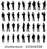silhouettes of business people... | Shutterstock .eps vector #242646508