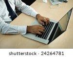 close up of businessman hand... | Shutterstock . vector #24264781