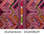 thai fabric texture   Shutterstock . vector #242648629