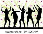 dance girls | Shutterstock .eps vector #24265099