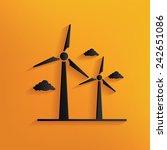 wind turbine design on yellow... | Shutterstock .eps vector #242651086