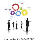 silhouette group of business... | Shutterstock .eps vector #242652880