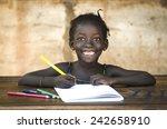 education symbol  big toothy... | Shutterstock . vector #242658910