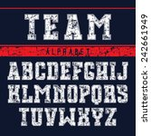 serif font in the sport style... | Shutterstock .eps vector #242661949