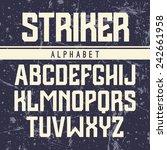 sanserif font in the sport style | Shutterstock .eps vector #242661958