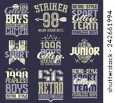 college rugby team emblems  in... | Shutterstock .eps vector #242661994