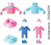 set of baby's goods  jacket ... | Shutterstock .eps vector #24266554