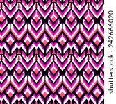 vector seamless geometric... | Shutterstock .eps vector #242666020