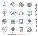 education   learning line icons ... | Shutterstock .eps vector #242668684