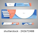 set of abstract advertising... | Shutterstock .eps vector #242672488