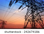 the evening of the pylon... | Shutterstock . vector #242674186