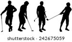 vector silhouette of a man who... | Shutterstock .eps vector #242675059