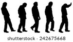 vector silhouette of a man on... | Shutterstock .eps vector #242675668