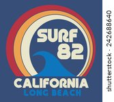 surf california  typography  t... | Shutterstock .eps vector #242688640